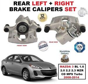 Arriere-Etriers-De-Freins-Set-Pour-Mazda-3-BL-1-6-2-0-2-2-2-3-MZR-CD-MPS-TURBO-2008-14