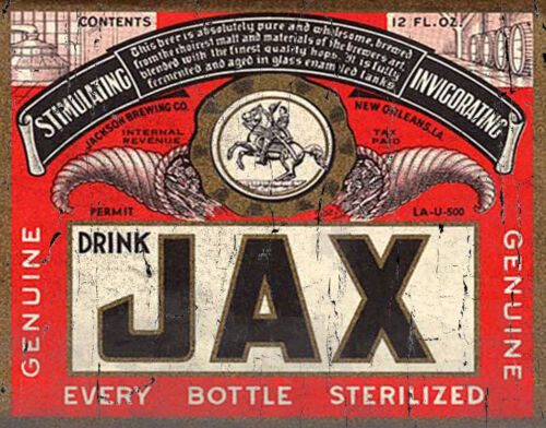 JAX BEER OLD AMERICAN BRAND METAL TIN SIGN POSTER WALL PLAQUE