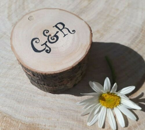 PERSONALISED Wooden Wedding RING Holder Case Rustic wood Gift box bearer We do
