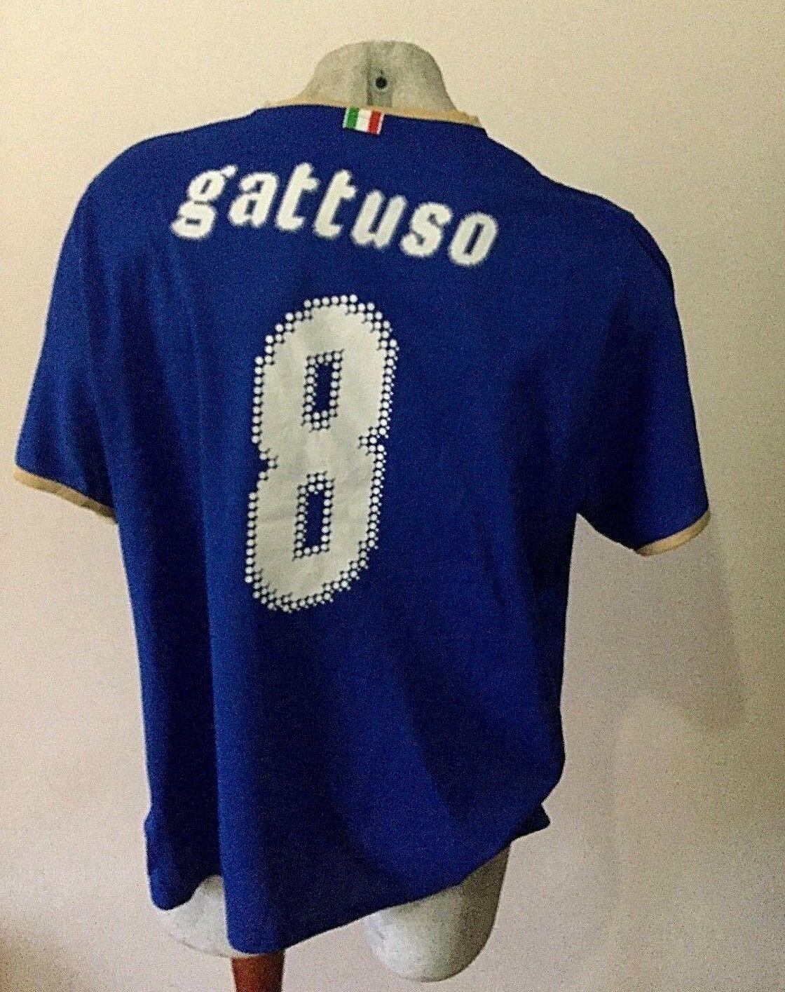 Maglia calcio puma italia gattuso milan 2009 trikot football shirt jersey XXL