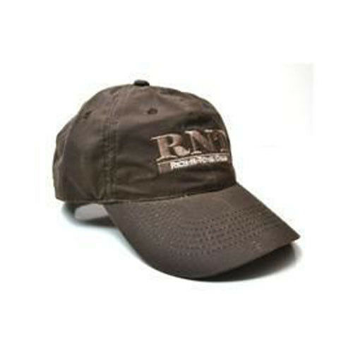 Rich-N-Tone Brown Waxed Ball Cap Hat RNT Duck Goose Call Logo Embroidered 2a05fac44852