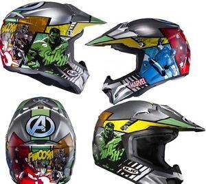 Details Sur Casque Moto Junior Kid Hjc Cl Xy 2 Avengers Motocross Off Road Mini Atv Quad