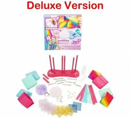 NEW Bow Maker Making Kit JoJo Siwa Hair Girls Charms Ribbons Gems Deluxe Version