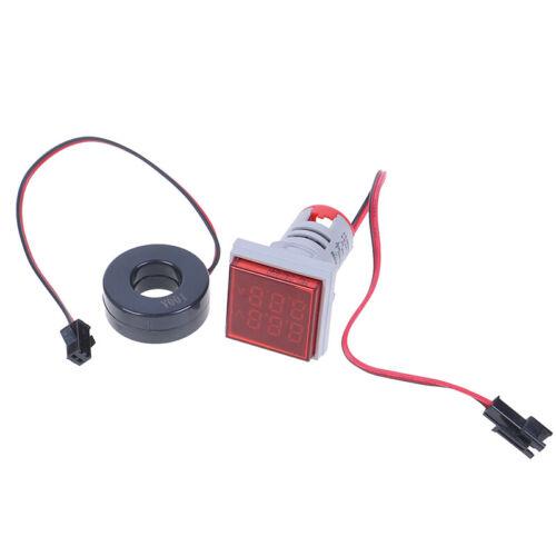 Digital LED Dual Display Voltmeter Ammeter Voltage Gauge Meter AC 60-500V/<0-RCUS