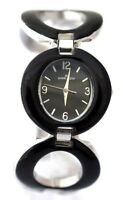 ANNE KLEIN 10/8769BKSV Black Bracelet Watch Retail $95