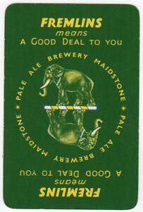 Playing-Cards-1-Swap-Card-Old-Vintage-FREMLINS-Brewery-PALE-ALE-Beer-ELEPHANT-5