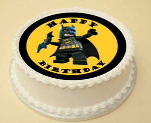 Image Is Loading LEGO BATMAN EDIBLE BIRTHDAY CAKE Amp CUPCAKE TOPPER