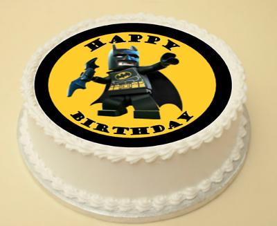 Fantastic Lego Batman Edible Birthday Cake Cupcake Topper Decoration Wafer Personalised Birthday Cards Paralily Jamesorg