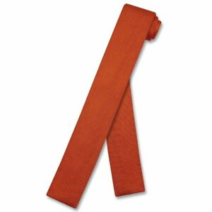 Biagio-KNITTED-Neck-Tie-Solid-BURNT-ORANGE-Color-Men-039-s-Knit-NeckTie
