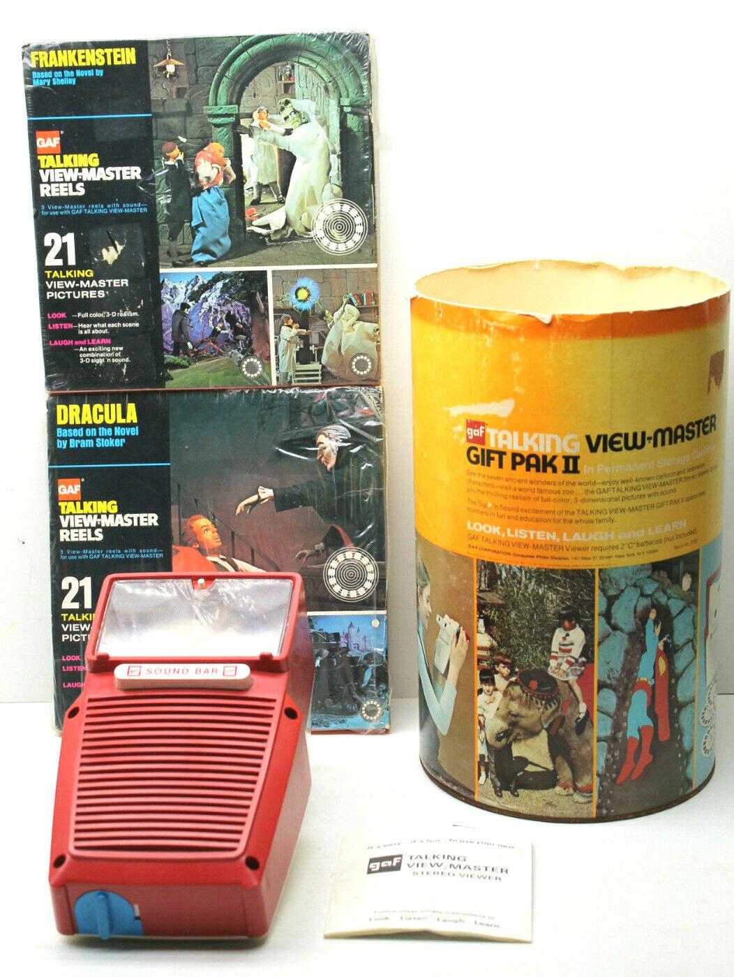 2Pc 1973 GAF Vyer Talking Peers Mary Shelley Frankenstein Dracula Stroker