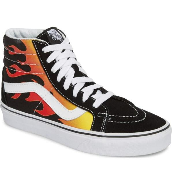 VANS Sk8-hi Reissue Flame Black Limited Edition Size US 11 Men VN0A2XSBPHN