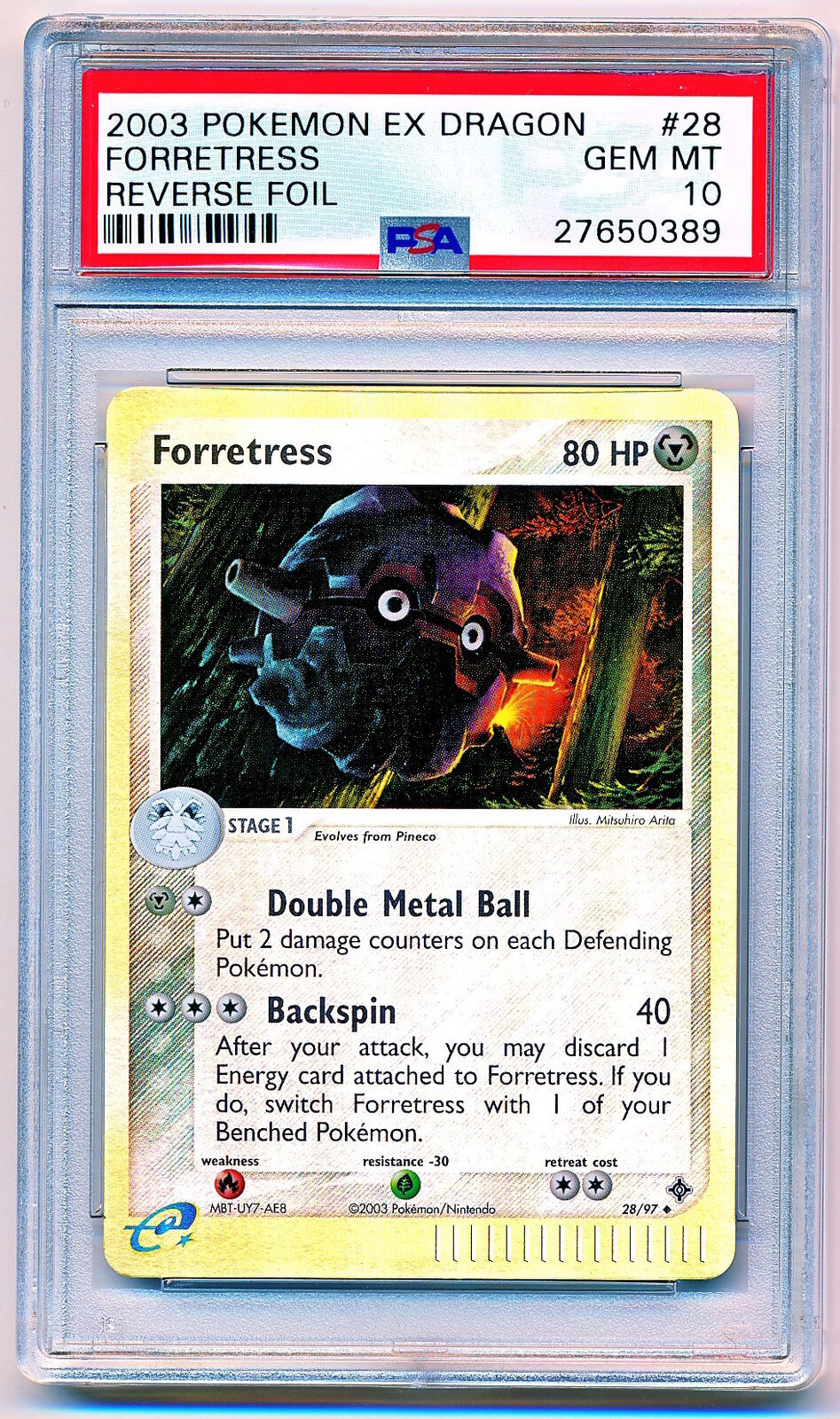 2003 Pokemon EX Dragon Forretress Forretress Forretress Reverse Holo  97 PSA 10 - POP 1 2a5f09