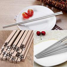 Stainless Steel Square Chopstick Korean Style Eco-friendly Chopstick Dinnerware
