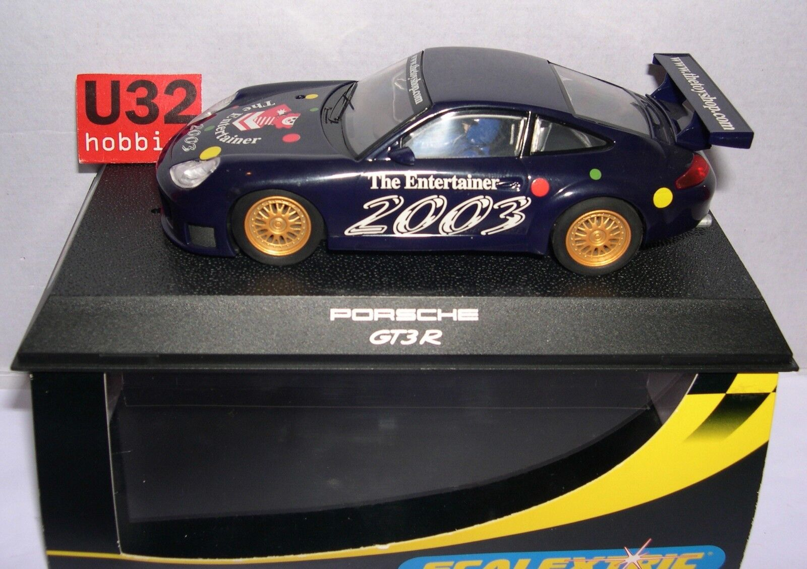Qq C2524 SCALEXTRIC UK PORSCHE 911 GT3R THE ENTERTAINER 2003 LIMITED EDITION