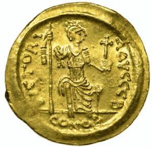 565-578-AD-Justin-II-Gold-Solidus-Roman-Byzantine-Empire-Sear-345-LCGS-40