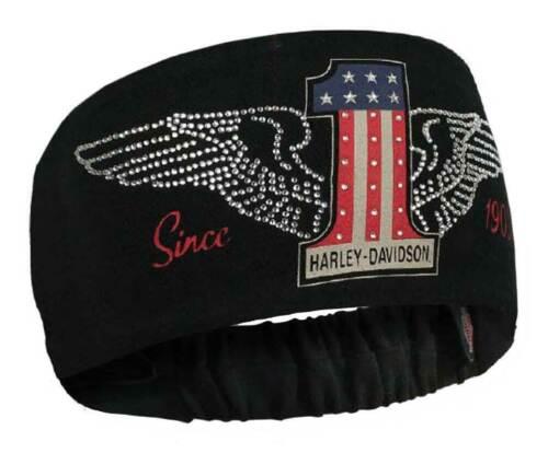 Harley-Davidson Women/'s RWB #1 Wings Headband Scrunchie Red White /& Blue HE33884