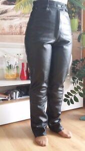 Damen - Hose Lederhose Lederjeans Motorradhose **LOUIS** Rindleder  Gr. 36 - 38