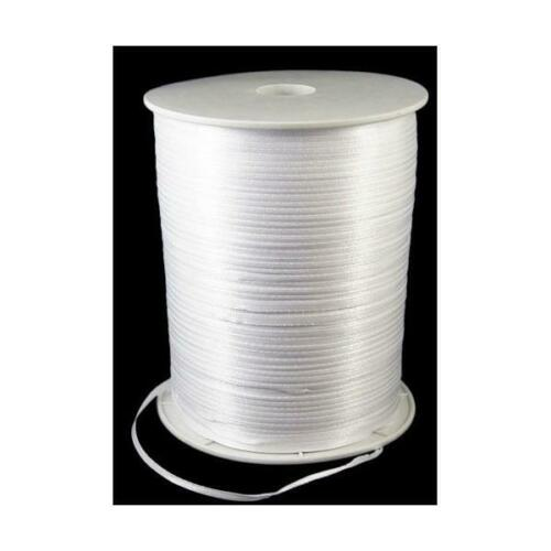 1 x 15m Continuous Length White 3mm Satin Ribbon Sewing Jewellery Making Crafts