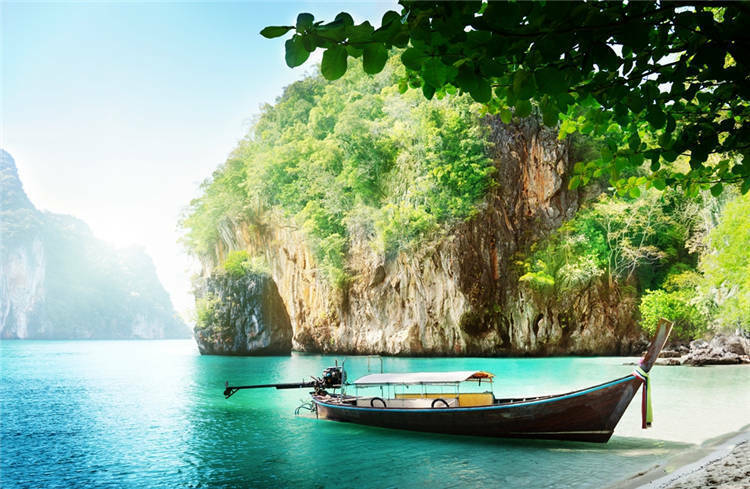 Phuket Thailand Boat Mountain Full Wall Mural Photo Wallpaper Print Home 3D Deca
