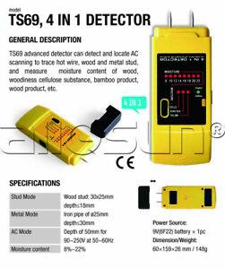 4-en-1-Medidor-De-Humedad-De-Madera-Stud-Metal-AC-cables-detectores-indicar-Multifuncion
