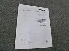 Wacker Neuson Bs60 4s Vibratory Rammer Parts Catalog Manual Book