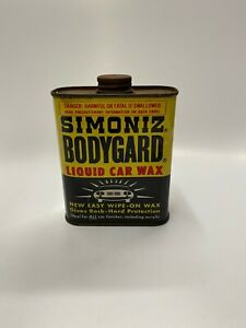 Vintage-1952-Simoniz-Bodygard-Liquid-Car-Wax-Advertising-Tin-Container