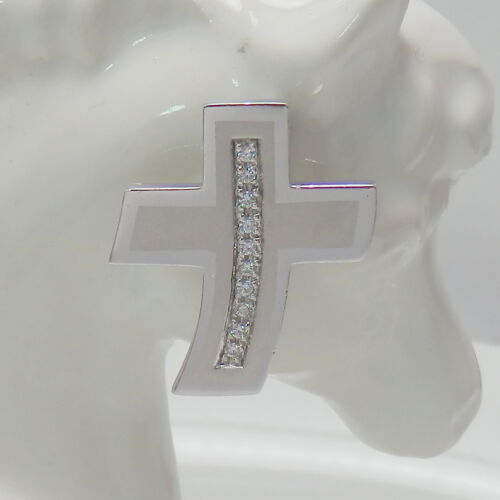 Kruzifix in 925 Silber massiv mit Zirkonia 87.Silber Anhänger,Kreuz Anhänger