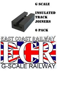 Pack of 6 PIKO G SCALE Piko 35292 Insulated Rail Joiners 45mm Gauge Insulator
