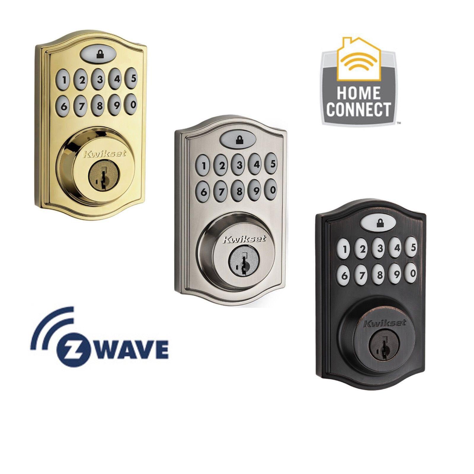 Kwikset 99140-001 SmartCode/® 914 Electronic UL Deadbolt with SmartKey and Z-Wave Polished Brass