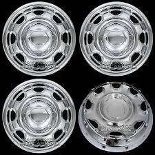 "4 New CHROME 2010-17 Ford F-150 17"" Wheel Skins Hub Caps 8 Hole Steel Rim Covers"
