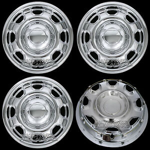 4-New-CHROME-2010-17-Ford-F-150-17-034-Wheel-Skins-Hub-Caps-8-Hole-Steel-Rim-Covers