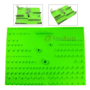 "171 PC Socket Organizer Holder Tray 1/4"" 3/8"" 1/2"" Drive Sockets Grip Tool 67255"