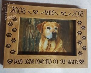 Personalised-memorial-engraved-photo-frame-dog-paw-prints-on-heart