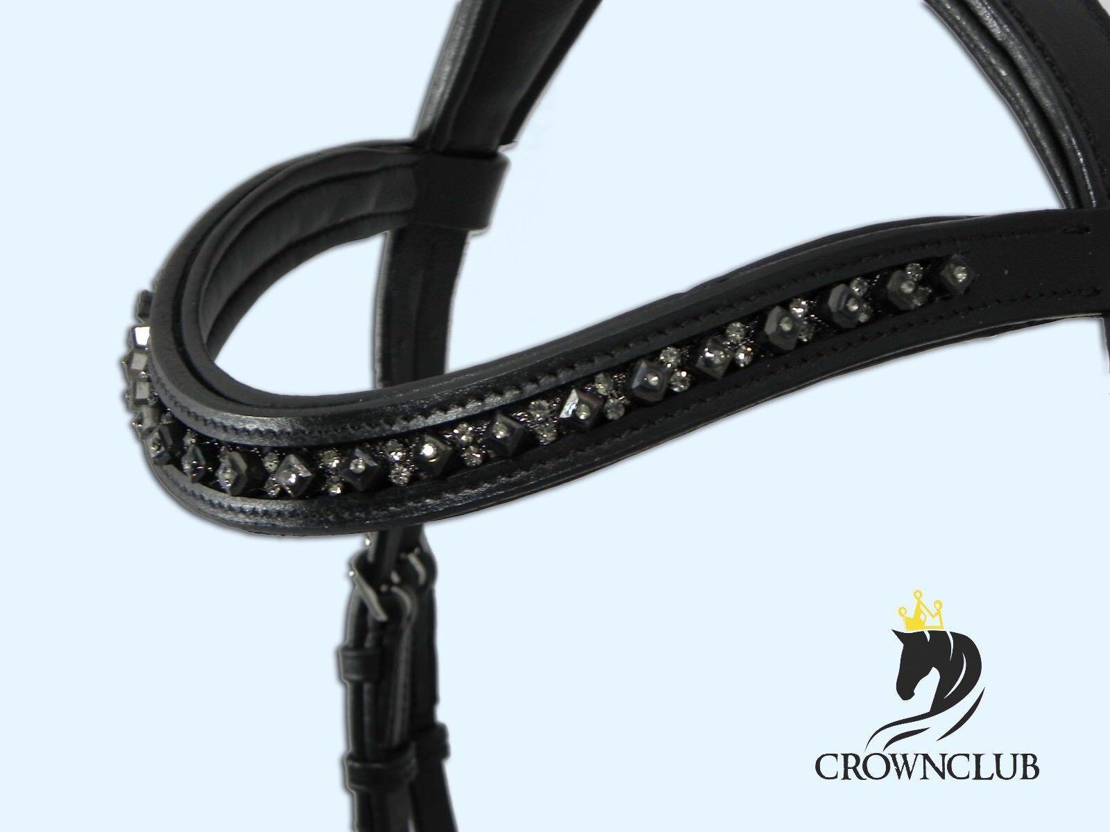 Bitless Bridle Gebisslose Trense Pony, VB, WB, KB Zaum ROYAL DOUBLE schwarz