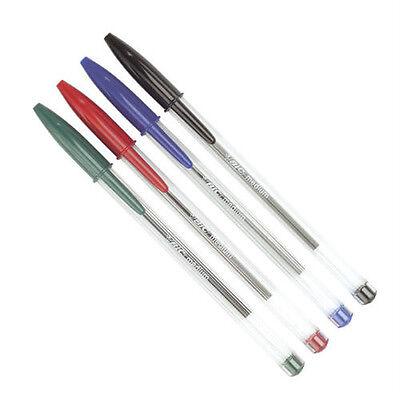 Bic Cristal Medium Ball Pens BIC Crystal Biros In Black//Blue Qty Available New