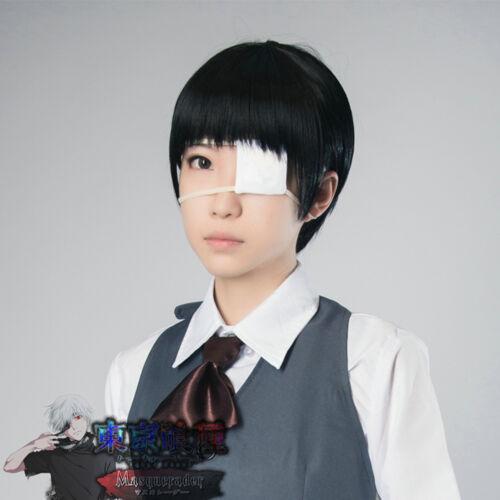 Anime Tokyo Ghoul Kaneki Blinder White Eye Patch Single-Eyed Mask Cosplay Pro BH