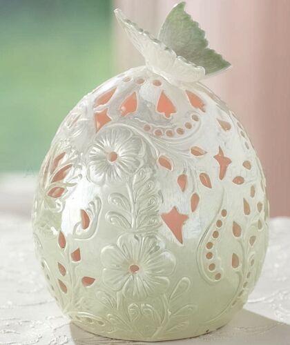 Mint Green Porcelain Egg LED Color Changing Light Spring Easter Home Decor 1-Pc