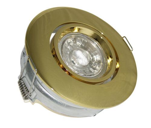 Bon état 3 W = 25 W COB Verre DEL de plafond montage projecteurs MIC 230 V gu10 ip20 EEK