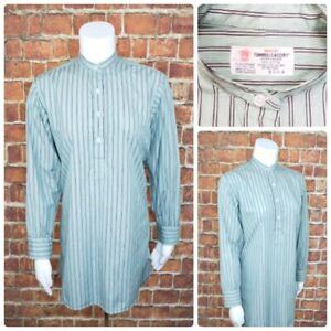 Turnbull-amp-Asser-Womens-12-5-Banded-Collar-1-2-Button-L-S-Dress-Shirt-Green