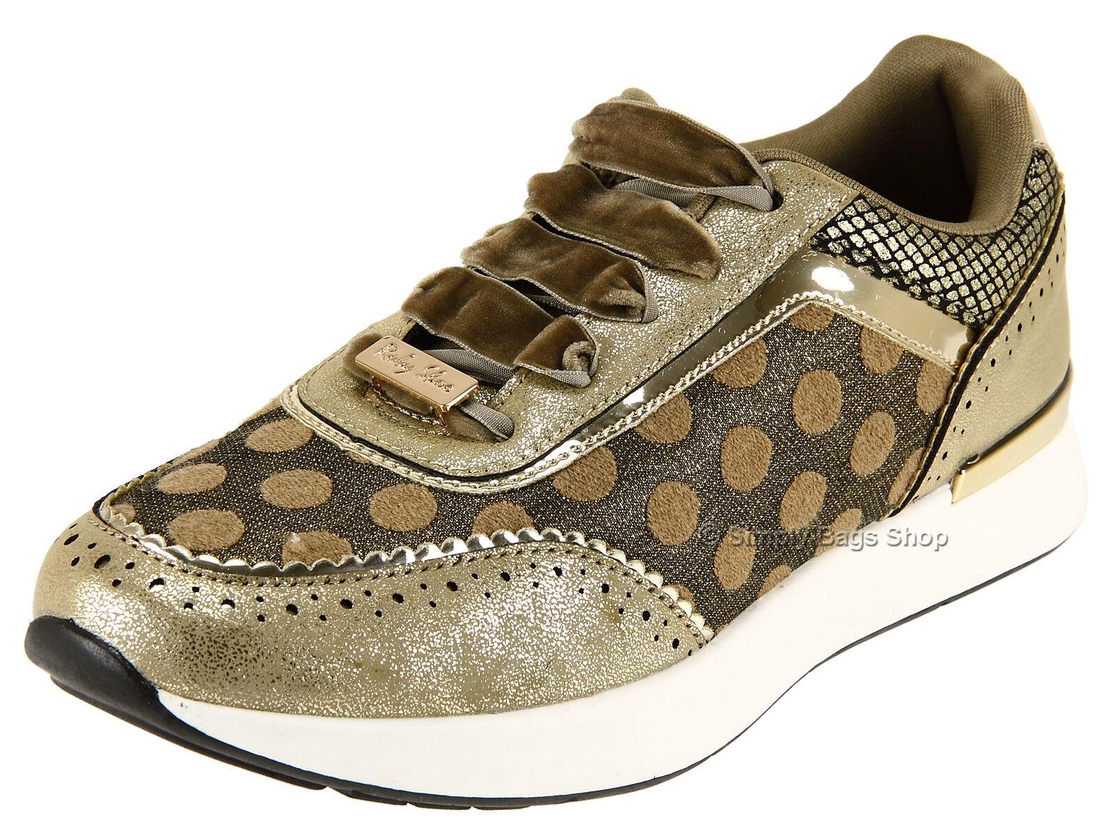 salutare Ruby Shoo Da Donna Vegan cordiale Stringati Stringati Stringati scarpe da ginnastica-Darcy oro  shopping online e negozio di moda