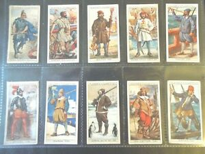 1930 Player HISTORY OF NAVAL DRESS military set 50 cards Tobacco Cigarette