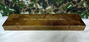 ANTIQUE VINTAGE BRITISH ARMY MILITARY SURPLUS PARALLEL ROLLING RULE