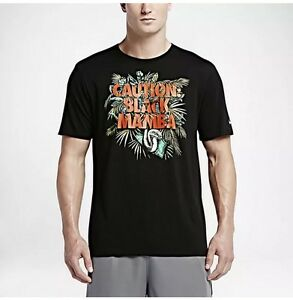 beb64d804a51 Nike Kobe Bryant Caution Black Mamba Dri-Fit T-Shirt Black NWT ...