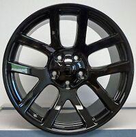 4 22x10 Srt 10 02-13 Dodge Ram 1500 Hemi Wheels Rims & Tires Gloss Black