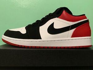 sale retailer 44a2a bf937 Image is loading Nike-Air-Jordan-Retro-1-Low-Black-Toe-