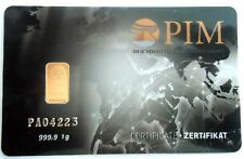 1 Stck. Nadir PIM Goldbarren 1 Gramm Feingold 999,9/1000,1g Gold 24 Karat LBMA