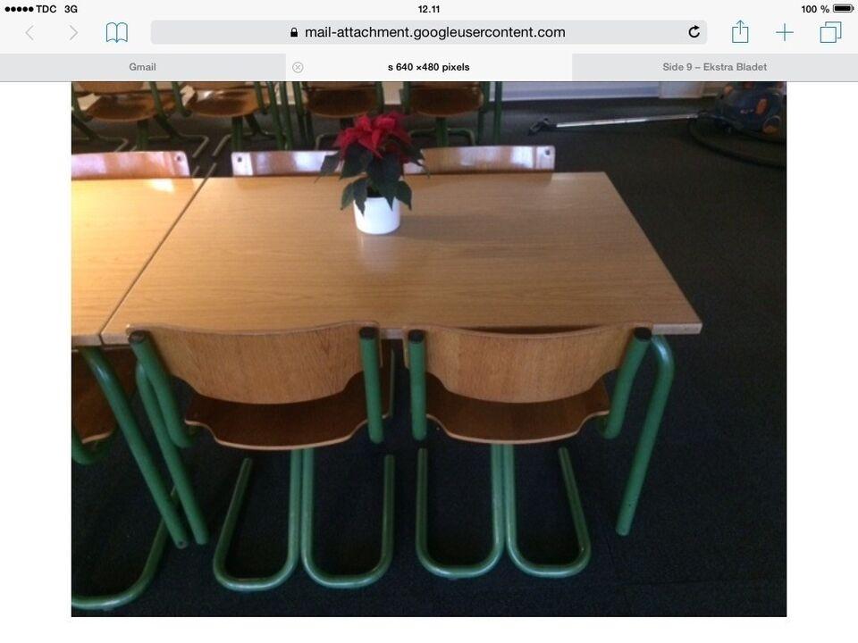 "Kantinemøbler ""RETRO"" 6 borde + 24 stole"