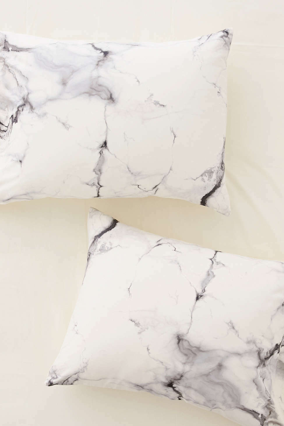 DENY designs Chelsea Victoria White Marble Pillow Cases Set of Two