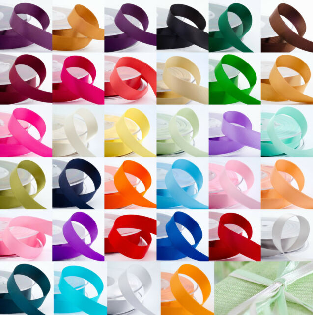 Double Sided Satin Ribbon Cut Lengths 3mm 6mm 10mm 16mm 25mm 38mm Best Quality