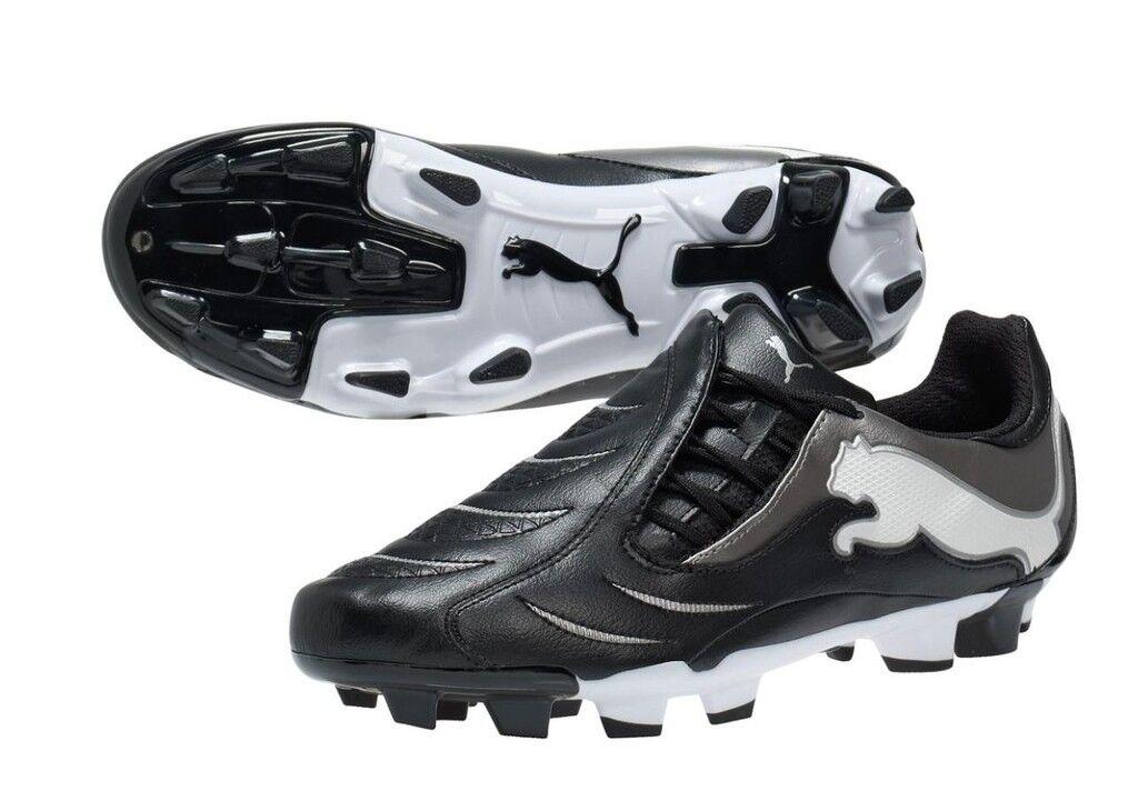 Puma PWR-C 3.10 FG 2011 Soccer Soccer Soccer shoes Black  Silver   White Brand New c9eb6c